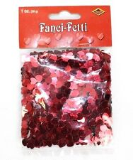 Confetti Shiny Red Hearts 28g Pack - Valentines Love Birthday Party Decoration