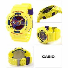 RARE CASIO G-SHOCK WATCH, GA-110A-9 HYPER COLOURS YELLOW OVERSIZE