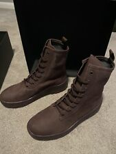Yeezy Season 6  Military Suede Boots Oxblood  Size 43 US 10 100% Authentic