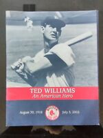 2002 Ted Williams Commemorative Poster Book Boston Red Sox with Newspaper Poster