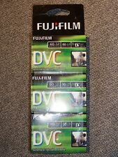 FUJIFILM DVM60 MINI DV DIGITAL VIDEO CASSETTE 3 PACK NEW UNOPENED 60MIN IN SP