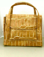 Saks  Fifth Avenue Gold Medium Sized  Handbag Made In Italy New