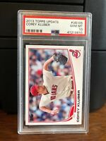 2013 Topps Update Corey Kluber Indians Rookie Card #US105 PSA 10 Gem Mint