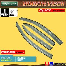 Top 4x Window Visors Shades Vent Rain Shields for Chevrolet Equinox 2005-2009