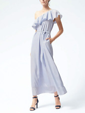 Banana Republic Poplin Off Shoulder Maxi Stripe Dress, sz XSP Petite $158