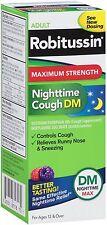 Robitussin Adult Maximum Strength Nighttime Cough DM Max Liquid 8 oz