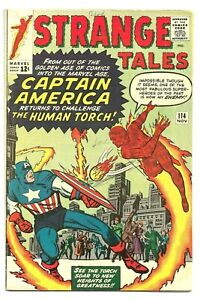 Strange Tales #114, 1963 1st Silver Age Capt. America Appearance since 1954, 7.0