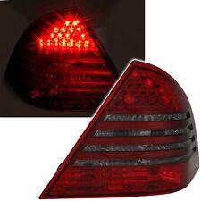 2 FEUX ARRIERE LED MERCEDES CLASSE C W203 5/2000 A 3/2004 NOIR ROUGE CRISTAL