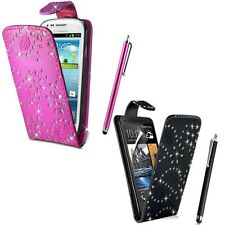 Glitter Flip Case Pouch PU Leather Cover For Samsung Galaxy Ace 4 G357fz