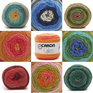 [BUY 10 GET 25% OFF] Caron Cakes 200g - Self Striping Aran Yarn