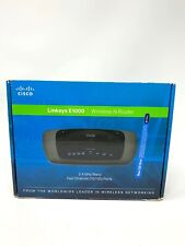 Cisco Linksys E1000 Wireless Router Black 4 Port w/Cable & Power Cord - Works!