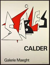Alexander Calder STABILES Lithographie Poster Galerie Maeght 1963