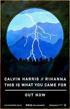 CALVIN HARRIS x RIHANNA This Is What 2016 Ltd Ed RARE Poster +FREE Dance Poster!