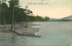 Caryl's Lake Worcester New York Souvenir hand colored 1908 Postcard 21-1929