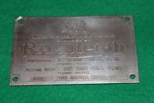 Rossleigh Ltd Dashboard Suppliers Badge Bentley Triumph & Land Rover