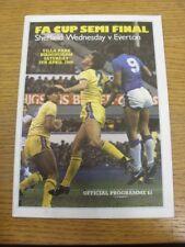 05/04/1986 FA Cup semi-final: Sheffield Wednesday V Everton [en Aston Villa]. B