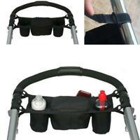 Universal Buggy Baby Pram Organizer Bottle Holder Stroller Caddy Net Q2B9