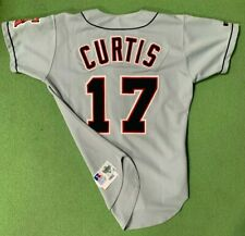 1993 Chad Curtis California Angels Team-Issued Road Jersey