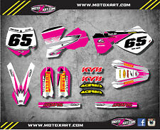 Custom graphics full kit SHOCKWAVE PINK STYLE stickers to fit KTM 65 2002 2008