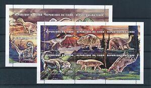 [G391108] Chad dinosaur 2 good very fine MNH sheets