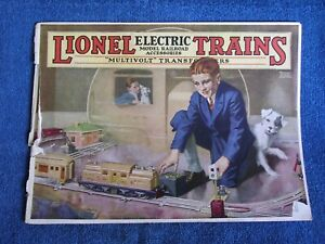 Lionel Electric Trains 1926 Catalog/Some Cover Damage-Otherwise Clean & Complete