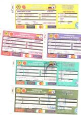 Copa America 2001 Colombia - 4 different used match tickets