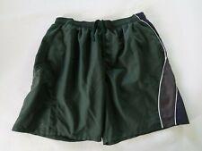 Speedo Mens Mesh Lined Polyester Dark Green Swim Trunk Shorts With Pockets XL