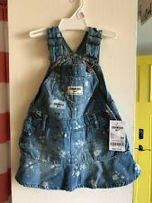 OSHKOSH BGOSH Girls Flowers Denim Overall Dress Size 9M ~...