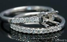 with Band Diamond Engagement & Wedding Ring Sets