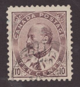 #93 - Canada - 10c - 1903 - KEVI - Used VF -  superfleas - cvt$20