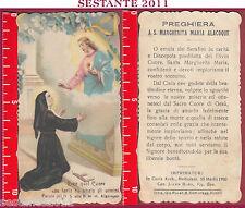 2398 SANTINO HOLY CARD SACRO CUORE S. SANTA MARGHERITA ALACOQUE MEDIOLANI RUSSO