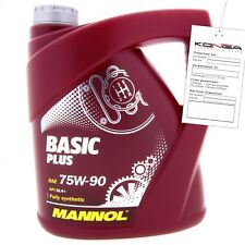 4 Liter MANNOL Basic Plus 75W-90 API GL 4+ Getriebeöl 75W90 Öl
