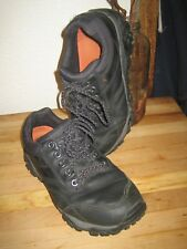 MERRELL BLACK LEATHER SELECT DRY WATERPROOF HIKING TRAIL SHOES MENS 7 WOMENS 9