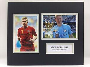 RARE Kevin De Bruyne Manchester City Signed Photo Display + COA AUTOGRAPH MCFC