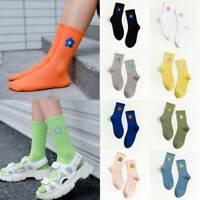 Streetwear Flower Embroider Cute Sock Women Fashion Japanese Korean Style Socks