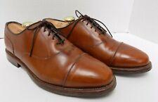 Allen Edmonds Mens Oxfords Captoe Niles Brown Leather Size 7.5E