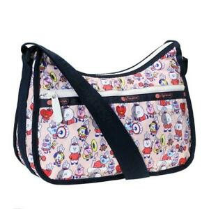 LeSportsac BTS Collection Classic Hobo Crossbody Bag in BT21 Multi NWT