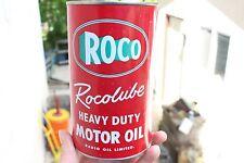 Vintage 1 Quart Roco Radio Oil Can Collectible advertising Winnipeg Manitoba