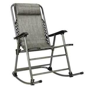 Folding Rocking Chair Leisure Chair Outdoor Patio Rocker for Indoor Outdoor Yard