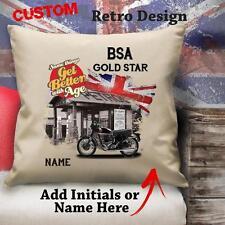 Personalizzato BSA Goldstar Vintage Moto Classica Cuscino Tela Copertura Regalo