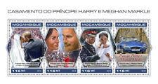 More details for mozambique royalty stamps 2018 mnh prince harry & meghan royal wedding 4v m/s