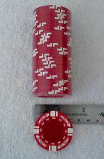 Blank Poker/Casino chips, 25 pk roll, RED, white stripe w/Flames FREE SHIPPING