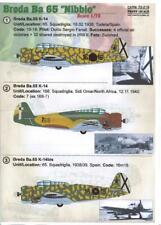 "Print Scale Decals 1/72 BREDA Ba-65 ""NIBBIO"" Italian WWII Ground Attack Aircraft"