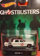 HOT WHEELS RETRO GHOSTBUSTERS New ECTO-1 New In Package 1:64 Real Riders Wheels
