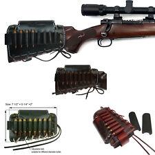 Leather Rifle Cartridges buttstock shell holder Ammo Carrier Cheek Rest Riser