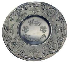 Happy Anniversary Silver 25th Gift Wall Decor Plate Silverplate Viners England