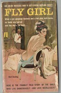 Vtg Pulp Book Fiction Novel Fly Girl by Matt Harding Pinup Cover