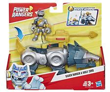 Hasbro Playskool Heroes Power Rangers Power Morph Silver Ranger & Wolf Zord