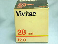 CANON FD VIVITAR KIRON 28mm F2 LENS NEW IN BOX RARE