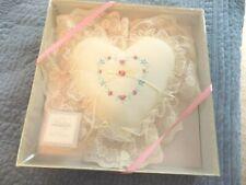 Hallmark Ring Bearer Pillow ~ Heart Shaped ~ Off White ~ Vintage ~ New